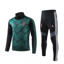 19-20 Juventus Green Hing Neck Training Suit