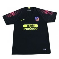 1819 Atlético de Madrid Goalkeeper Black Soccer Jersey Shirt