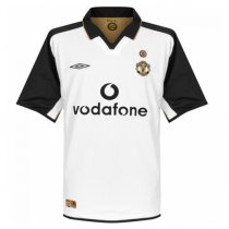 2001-2002 Manchester United Centenary Away White Retro Jersey