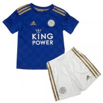 19-20 Leicester City Home Soccer Jersey Kids Kit