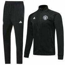 19-20 Manchester United All Black Jacket Kit