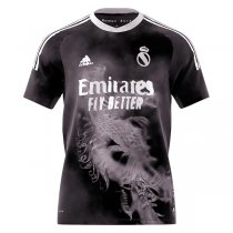 20-21 Real Madrid Human Race FC Black Soccer Jersey