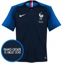 2018 France Authentic Home World Final Jersey (Player version)