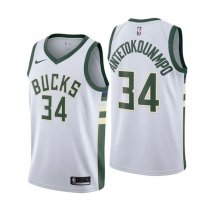 Milwaukee Bucks Giannis Antetokounmpo #34 White Statement Swingman Jersey