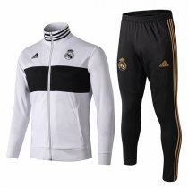 19-20 Real Madrid White&Black High Neck Jacket Kit