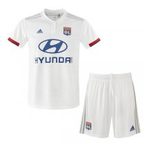19-20 Olympique Lyon Home Jersey Men Kit(Shirt+Short)