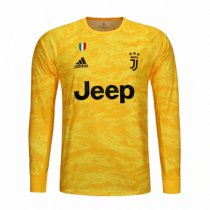 19-20 Juventus Yellow Goalkeeper Long Sleeve Jersey