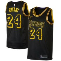 Los Angeles Lakers Black Mamba City Kobe Bryant 24 Swingman Jersey