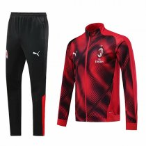 19-20 AC Milan Red Zebra pattern Jacket Kit