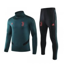 19-20 Juventus Dark Green Hing Neck Training Suit