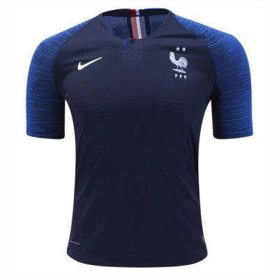 2018 World Cup France Home Jersey 2 Star (Player Version)