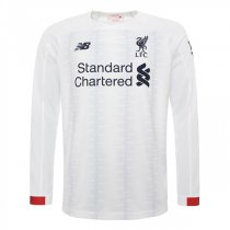 19-20 Liverpool Away White Long Sleeve Soccer Jersey Shirt