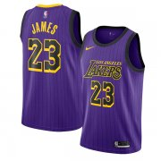 Los Angeles Lakers LeBron James 2018-19 Swingman Jersey City Edition Purple