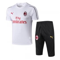1819 AC Milan White Short Training Tracksuit