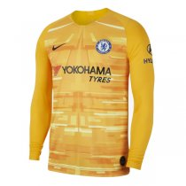 19-20 Chelsea Yellow Goalkeeper Long Sleeve Soccer Jersey