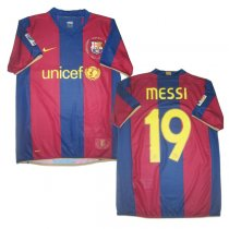 2007-2008 FC Barcelona Home Retro Jersey MESSI #19 Shirt