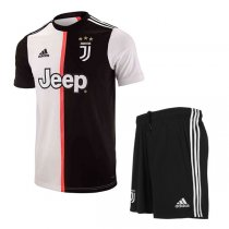 19-20 Juventus Home Soccer Jersey Men Kit(Shirt+Short)