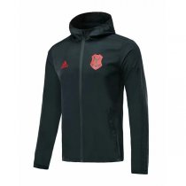 19-20 CR Flamengo Black Hoodie Windbreaker