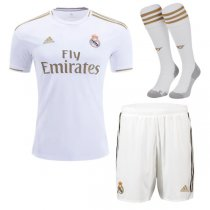 19-20 Real Madrid Home Soccer Jersey Men Full Kit(Shirt+Short+Socks)