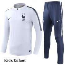 Kids 2018 Two Star France White Tracksuit