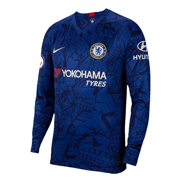 19 20 Chelsea Home Long Sleeve Soccer Jersey Shirt