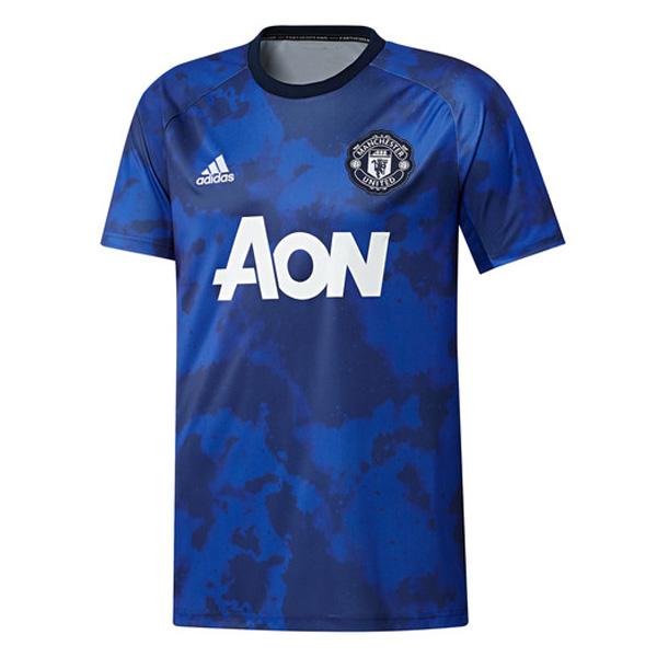 19 20 Manchester United Pre Match Jersey Blue